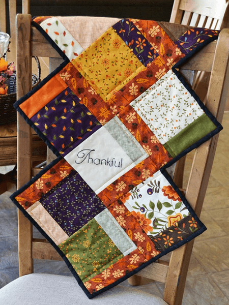Fall Charm Quilted Table Runner Pattern by Joyous Home
