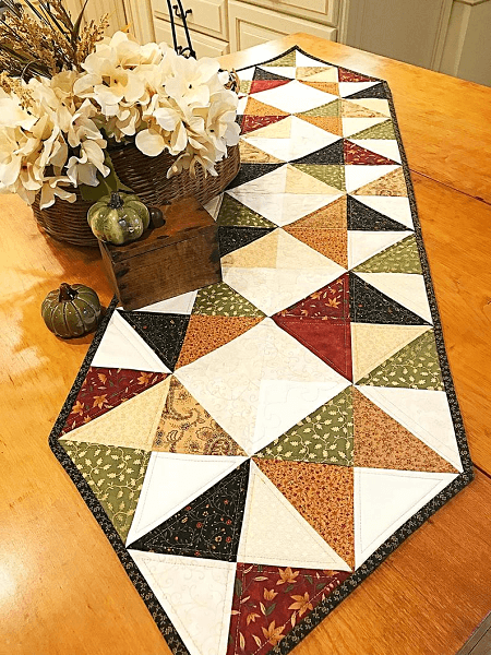 Farmhouse Quilt Table Runner Pattern by Maple Cottage Designs