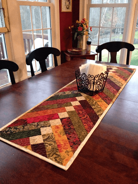 French Braid Table Runner Quilt Pattern by Rags To Fishes