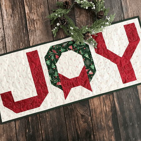 Joy Table Runner Quilt Pattern by Primrose Cottages