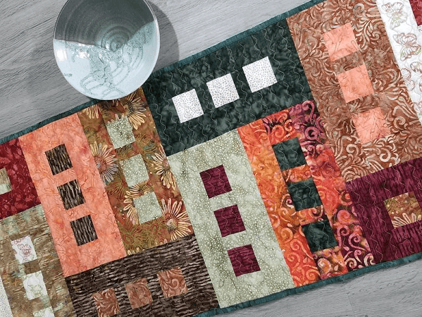 Modern Quilted Table Runner Pattern by Dilly Dally Everyday