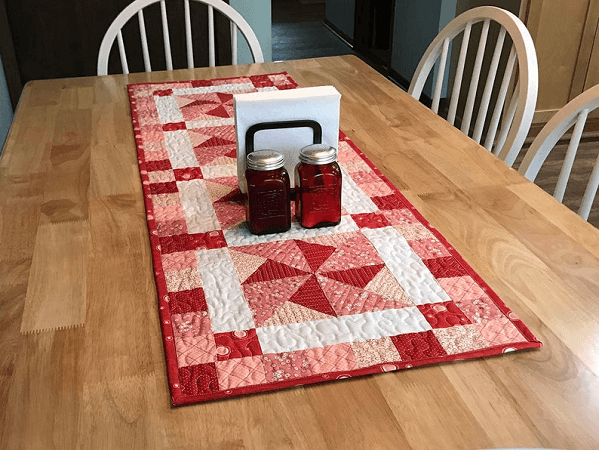 Quilted Table Runner Pattern by Tulip Square