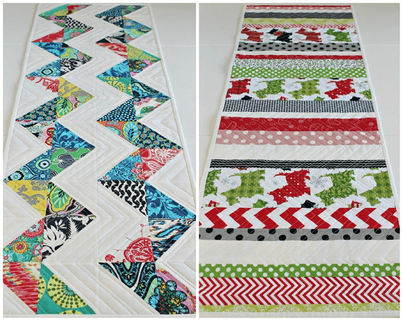 Reversible Quilted Table Runner Pattern by Saltwater Quilts