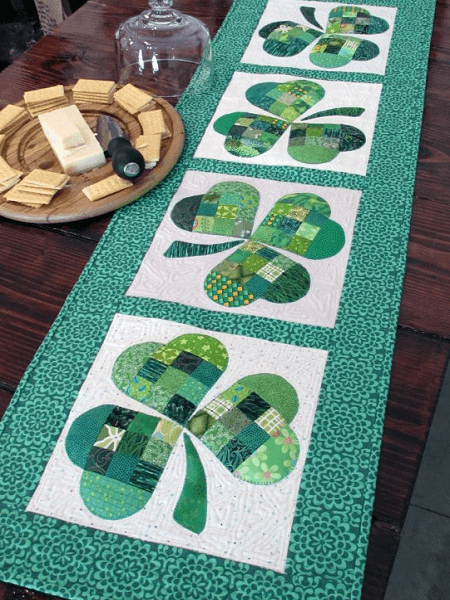 Shamrock Quilted Table Runner Pattern by We All Sew
