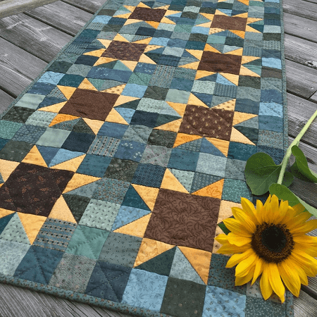 Sunflowers Table Runner Quilt Pattern by Jen Daly Quilts