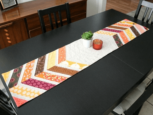 Tribal Chevrons Table Runner Quilt Pattern by Quilts By Emily