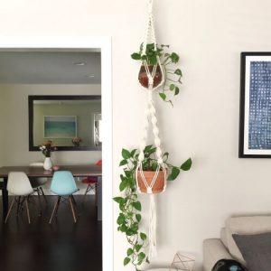 2 Tier Macrame Plant Hanger Pattern by ReformFibers