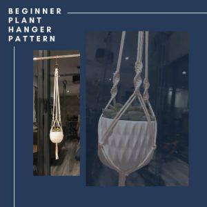 Beginner Macrame Plant Hanger Pattern