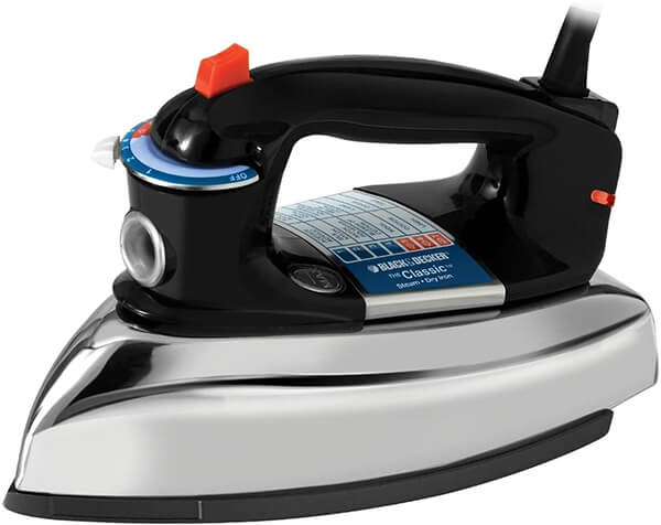 Black+Decker F67E Classic Steam Iron From Amazon