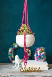 Easy Macrame Plant Hanger Tutorial by Lia Griffith