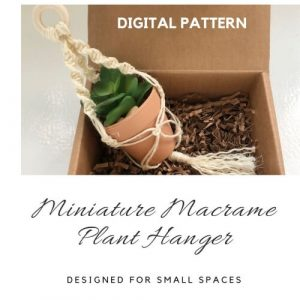 Miniature Macrame Plant Hanger Pattern by GoYeDesigns