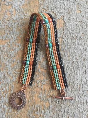 Herringbone Bracelet by mountforestbeadery