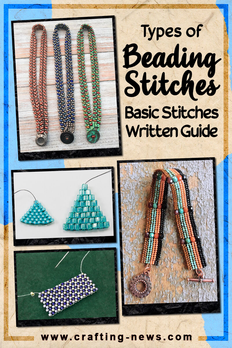 TYPES OF BEADING STITCHES BASIC STITCHES WRITTEN GUIDE