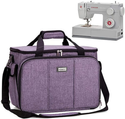 HOMEST Sewing Machine Carrying Case with Multiple Storage Pockets