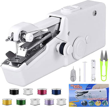Beginner Electric Handheld Sewing Machine Cordless from Amazon