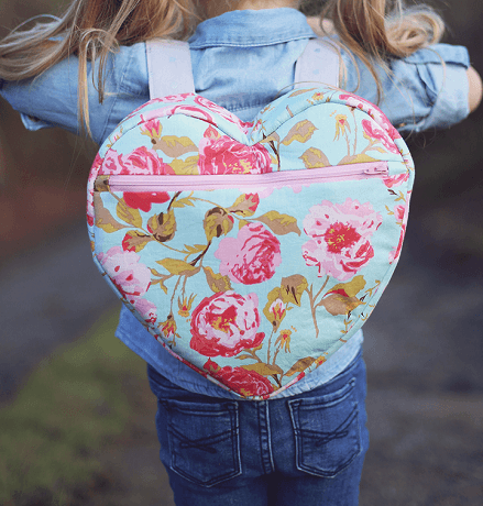 Heart Backpack Sewing Pattern by Sew Much Ado