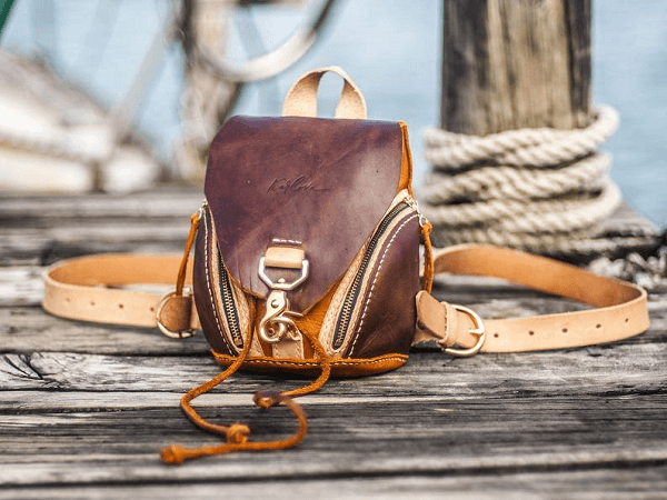 Leather Puppy Backpack Sewing Pattern by Karlova Design