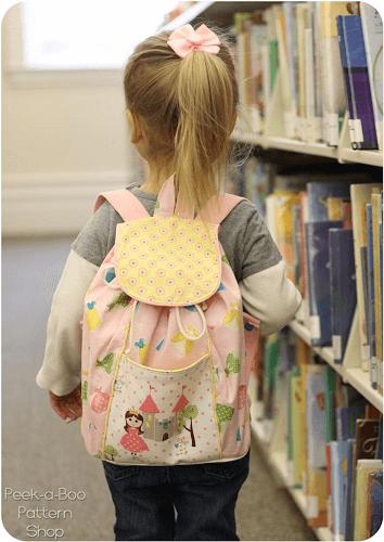 Lil Adventurer Backpack Sewing Pattern by Peekaboo Pattern Shop