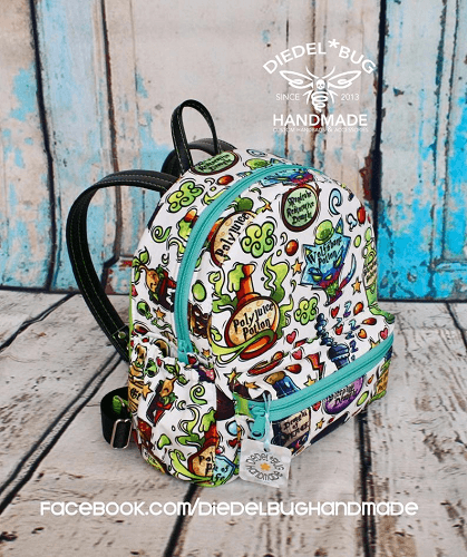 Mini Backpack Sewing Pattern by Diedelbug Handmade