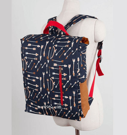 Ruther Backpack Sewing Pattern by I think I Sew Bags
