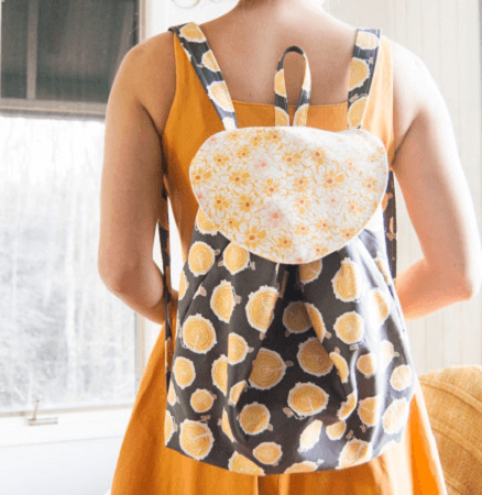 Slouchy Backpack Sewing Pattern by Bonnie Christine
