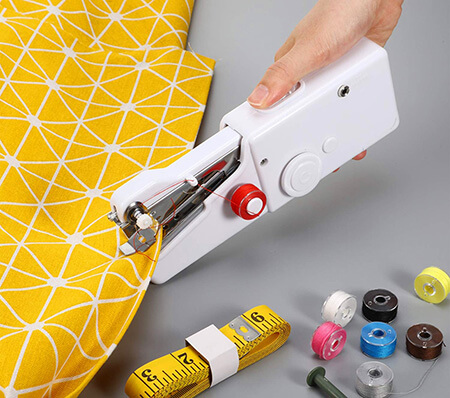 use the handheld sewing machine to work on the edges from Sewingland