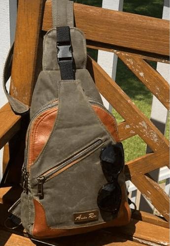Wayfarer Sling Backpack Sewing Pattern by A Quaint Stitch