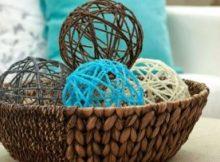 DIY Crafting Yarn Sphere Free Tutorial Home Decor