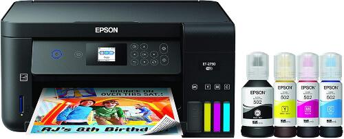 Epson EcoTank ET-2750 Wireless Color All-in-One Cartridge-Free Supertank Printer