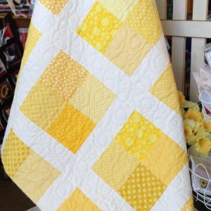 Lemon Drop Yellow Brick Road Quilt Pattern by CottonPickinsQuilts