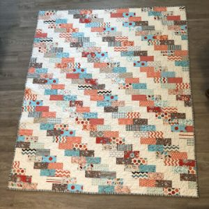 Staggered Brick Road Quilt Pattern by Modern Material Girl