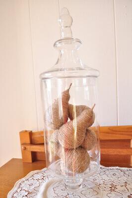 Twine Pears DIY with Light Bulbs Free Tutorial
