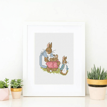 Peter Rabbit And Family Cross Stitch Pattern by Jac Of All Craft
