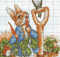 Peter Rabbit With Robin Cross Stitch by Good Woolies