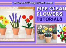PIPE CLEANER FLOWERS TUTORIALS