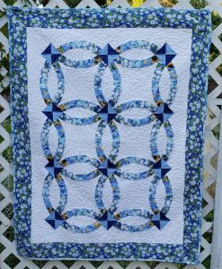 Double Wedding Ring Lap Quilt Pattern By BeckysQuiltDesigns