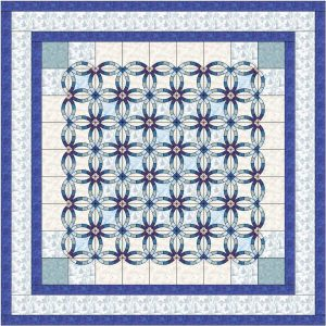 Double Wedding Ring Quilt Pattern by YellowRoseQuiltCo