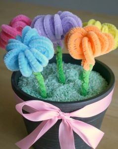 EASY PIPE CLEANER FLOWERS BOUQUET