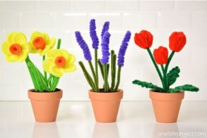 EASY PIPE CLEANER FLOWERS TULIPS, DAFFODILS AND HYACINTHS