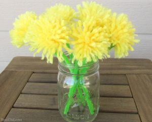 EASY TASSEL PIPE CLEANER FLOWERS BY BREN DID