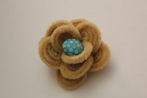 HAIR CLIP PIPE CLEANER CRAFTS FLOWERS BY FARMISH MOMA