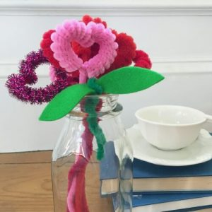 HEART FLOWER PIPE CLEANER TUTORIAL BY ANITA OLIVEIRA