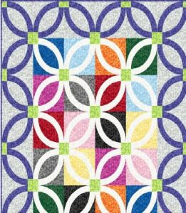 Jot Dot Free Wedding Ring Quilt Pattern by Denise Russell