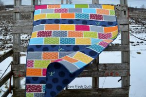 KYSS Me By The Garden Wall Brick Road Quilt Pattern by Sew Fresh Quilts