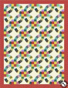 Little House on the Prairie - Free Wedding Ring Quilt Pattern by Bear Creek Quilting Company