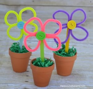 PIPE CLEANER FLOWERS TUTORIAL BY THE RESOURCEFUL MAMA