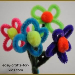 POM POM AND PIPE CLEANER FLOWERS BY EAST CRAFTS FOR KIDS