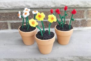 POTTED EASY PIPE CLEANER FLOWERS BY THE SPRUCE CRAFTS