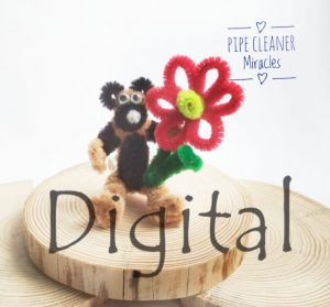TOY BEAR WITH FLOWER PIPE CLEANER BY PIPECLEANERMIRACLES