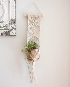 Wall Macrame Plant Hanger Tutorial by WillowandRosebud